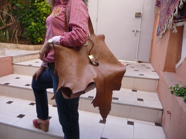 Leather Map bag